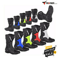 Motorbike Motorcycle Waterproof Boots High Ankle Racing Road Shoes CE Armored