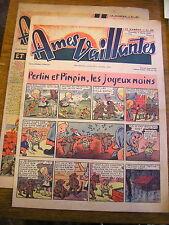Ames Vaillantes 1942 - lot de 3 n° : 5, 10, 32