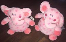 1Stück- KIK Elefant Dumbo Plüschtier Kuscheltier Stofftier rosa Pink Punkte 18cm