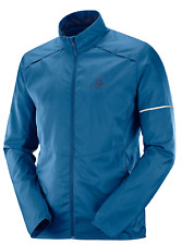 Salomon Men's Agile Wind Jacket Running Jacket Poseidon