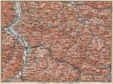 BAD RAGAZ PRÄTIGAU MONTAFON ENVIRONS. Wangs Rätikon Bludenz Maienfeld 1889 map