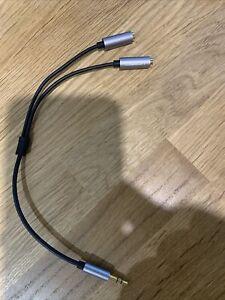 3.5mm Headphone Splitter - Black