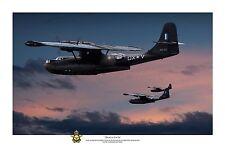"WWII WW2 RAAF PBY Catalina Pacific Aviation Art Photo Print - 8"" X 12"""
