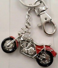 Rhinestone Bling Biker Motorcycle Chopper Key Chain Purse Fob