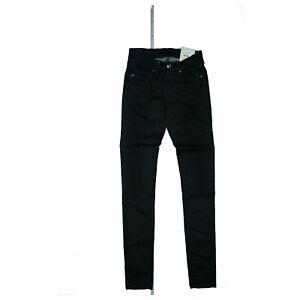 PEPE JEANS Pixie Damen Hose Skinny Regular W Slim stretch W25 L32 Schwarz NEU
