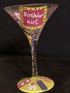 "Lolita ""Birthday Girl"" Martini Glass"