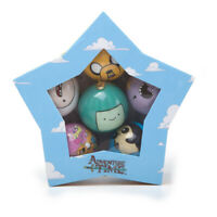 Adventure Time Xmas Decorative Set Of 6 Christmas Baubles With Multi Character