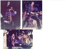 ELVIS PRESLEY BOSTON MA MASS 11/10/71 SET OF 3 PHOTOS LOT CANDID