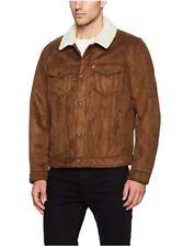 Levis Men's Trucker Faux-Shearling Sherpa Lined Jacket - S Small Retail $200