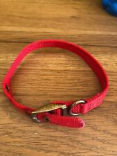 """ANCOL RED COLLAR NYLON 4 HOLES 18"""" LONG 3/4"""" WIDE USED FOR ENGLISH BULL TERRIER"""