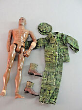 GI JOE 1998 GREEN CAMOUFLAGE JACKET CARGO PANT HAT BOOTS AFRICAN AMERICAN LOT 6