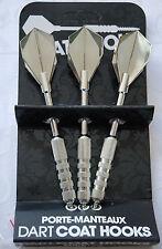 new novelty steel dart shaped coat hooks hanger home decor set of 3