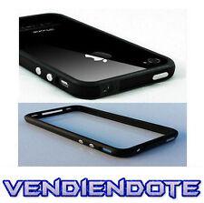 Funda Lateral Bumper Gel Iphone 4 4S Completamente Negro Con botones metalicos