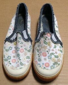 Keds Floral Print Flat No Lace Shoes W/ Jeans Lining SIZE 7 *SEE PHOTOS