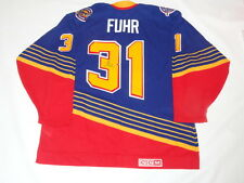 GRANT FUHR SIGNED #31 CCM VINTAGE ST. LOUIS BLUES JERSEY PROOF HOF RARE