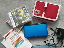 NINTENDO 3DS XL BLUE CONSOLE - 2 GAMES, CHARGER, STYLUS, MANUAL & CASE