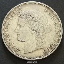 Suisse . 5 Francs 1889 B Argent/silver