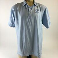 Peter Millar Boca Raton Florida Polo Shirt Short Sleeve Collared Blue Mens XL