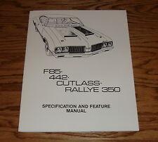 1970 Oldsmobile Cutlass F85 442 Rallye 350 Specification & Feature Manual 70