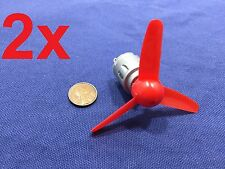 2 Pieces Propeller prop  Motor dc 6v Gear brush brushed small  140 KD086  B6