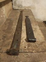 Antique Set Of Forced Iron Barn Door Strap Hinges