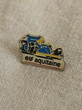 Pins Pin - F1 - Formule 1 -  Elf Aquitaine - Renault - bleu & jaune 1992 parfait
