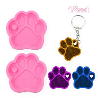 Cat Paw Epoxy Resin Keychain Mold Cake Silicone Mould Candy Chocolate Mold