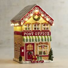 Pier 1 Light-Up LED Post Office Christmas Village Cookie Jar