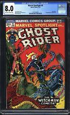 Marvel Spotlight #8 (1973) CGC 8.0 KEY 4th Ghost Rider App. 1st Snake Dance HOT!