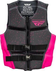 Women's Life Vest Fly Racing Neoprene Floation Lady's Vest Pink/Grey NEW XS-LG