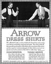 J C Leyendecker Pool Billiard Players ARROW SHIRTS Golf 1914 Full Page Print Ad