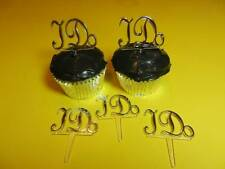 12 - I DO Silver Wedding Cupcake Picks Toppers Cake Decorations Party Favors