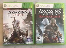 Xbox 360 Games Lot - Assassin's Creed Revelations and Assassin's Creed III