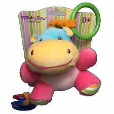 Baby-Bow  Bébé Mascotte hochets à accrocher Doudou Peluche Hippopotame 15 cm