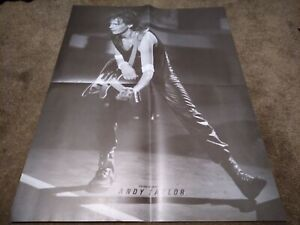 ANDY TAYLOR 4 PAGE POSTER CLIPPING FROM A MAGAZINE 80'S DURAN DURAN