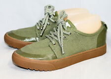 NWOB SOREL NL2866-389 Campsneak Canvas Sneaker Womens 8M Olive Green