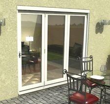 X BIFOLD PATIO DOORS - 2.4m (8ft) White Fully Finished 54mm - 1.4 U-Value ZA152