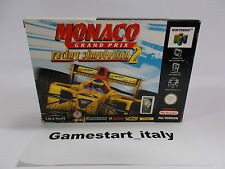 MONACO GRAND PRIX 2 - NINTENDO 64 N64 - PAL VERSION - BOXED RARE