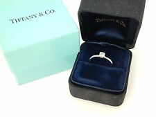 Tiffany & Co. Platinum Engagement Bezet Diamond Wedding Band Ring Size 4.5 $1450