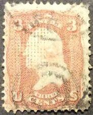1867 3c Washington regular issue, Scott #94, Used, Fine
