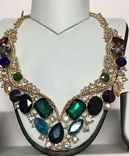 Elegante collana di strass colore VERDE MARE