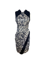 Cue Womens Size 10 A - Line Midi Sleeveless High Neck Wiggle Dress