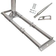 PremiumX PROFI Dachsparrenhalter 1m Mast 60mm Sparrenhalter SAT Dach Halter T90