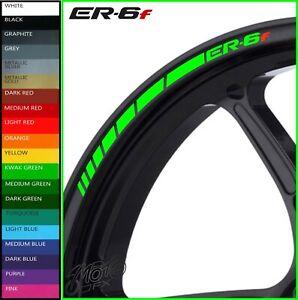 ER-6F Wheel Rim Stickers Decals - 20 Colors Available - er6f er6 f 650 er 6f