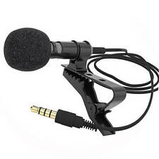 Best Clip-on Lapel Mini Mic Microphone For iPhone SmartPhone Recording PC UK