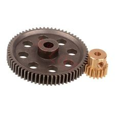 11184 Metal Diff.Main Gear (64T) 11119 Motor Gear 17T RC HSP 1:10th Car Truck