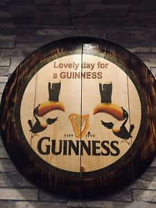 Guinness Toucan round plaque wooden sign mancave shed bar pub 14inch