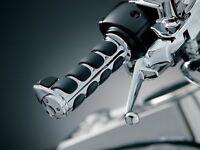 Avon Memory Foam Grips Chrome Cable Throttle Harley Davidson MF-63A-CH 40-2725