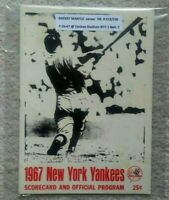1967 Mickey MANTLE HR #513/536 Vintage Baseball Program New York Yankees HOMERUN