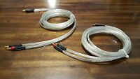 ELF Custom Cables Silver Surfer OCC Silver Speaker Cables 15ft w/ banana plugs